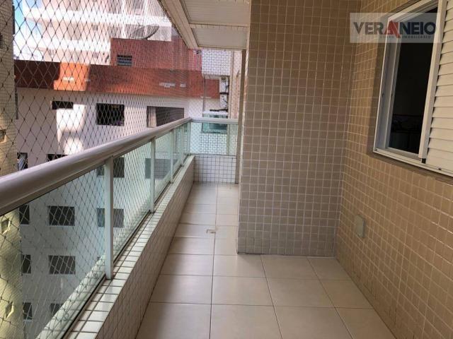 Apartamento com 2 dormitórios para alugar, 99 m² por R$ 3.100,00/mês - Canto do Forte - Pr - Foto 19