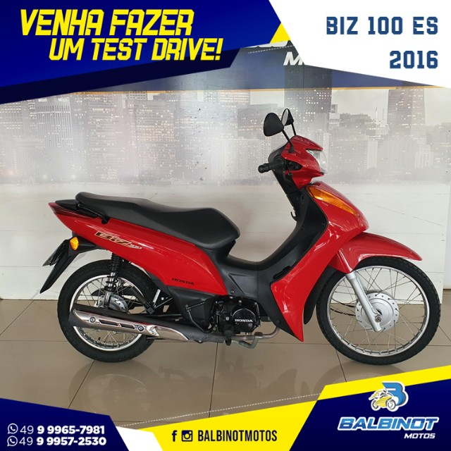 Biz 100 ES 2015 Vermelha