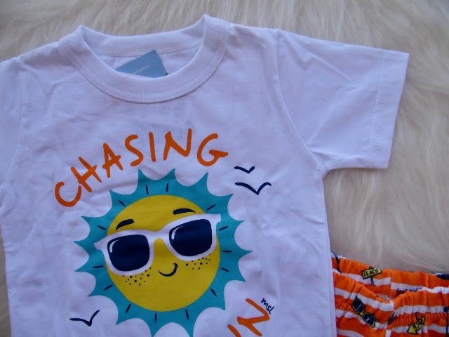 Conjunto Infantil Marisol Play Menino Camiseta Bermuda - Foto 3