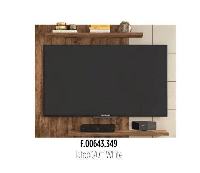 Painel Para TV Até 58 Polegadas Cross Branco /Al 108x Larg 135x prof. 26 - Foto 2
