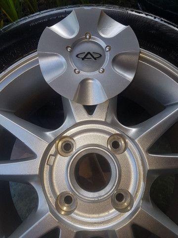 """Rodas 15"""" 4x114 com pneus. - Foto 3"""