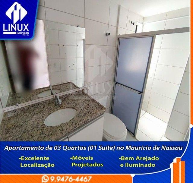 Alugo Apartamento de 3 Quartos (1 Suíte) com 88 m² no Maurício de Nassau em Caruaru/PE.