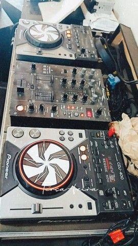 Kit cdj 400 + Mixer pionner com case