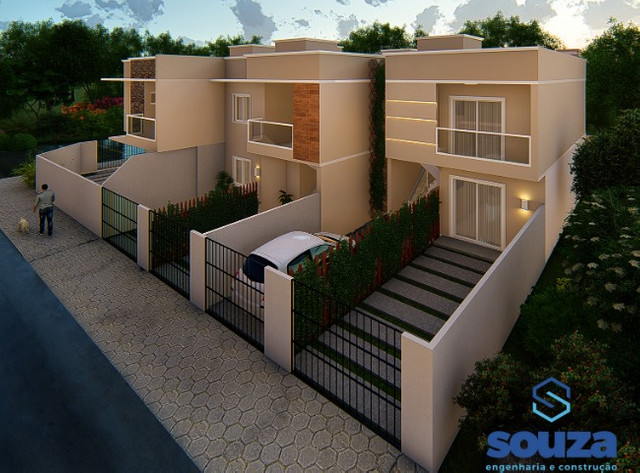Oportunidade seu imóvel - Apartamentos geminados com 2 quartos no Paese - Itapoá/SC