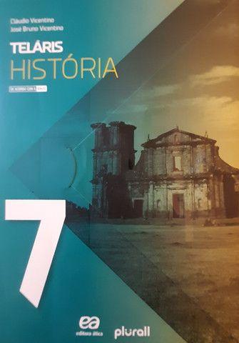 Coleção Livros TELÁRIS e Livro de Português - Atual Editora, 7° Ano - Foto 3