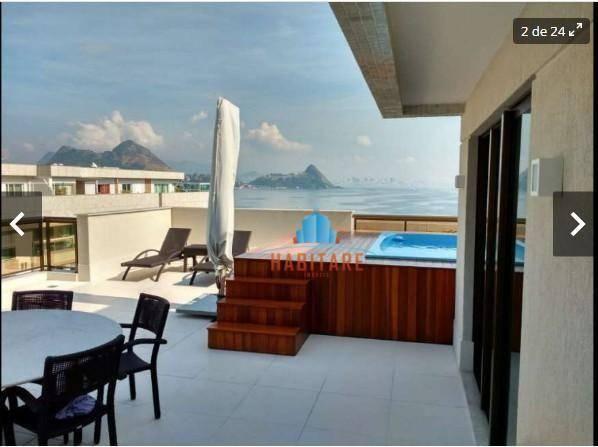 Cobertura residencial à venda, Charitas, Niterói.