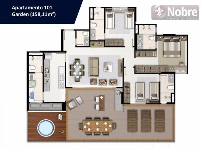 Apartamento com 3 dormitórios à venda, 113 m² por r$ 652.300 - plano diretor sul - palmas/ - Foto 17