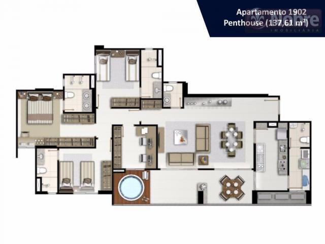Apartamento com 3 dormitórios à venda, 113 m² por r$ 652.300 - plano diretor sul - palmas/ - Foto 18