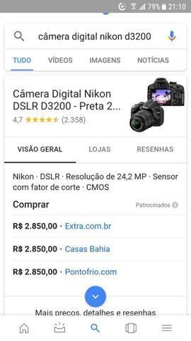 Câmera profissional novíssima - Foto 6