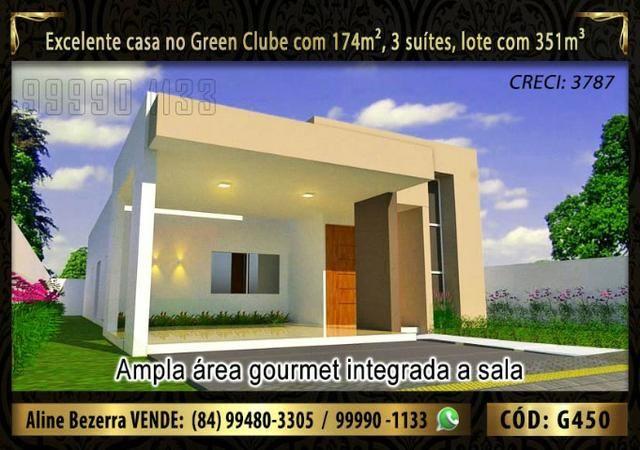 Linda casa no Green clube com 3 suítes, 174m de área construída e lote com 351m - Foto 3