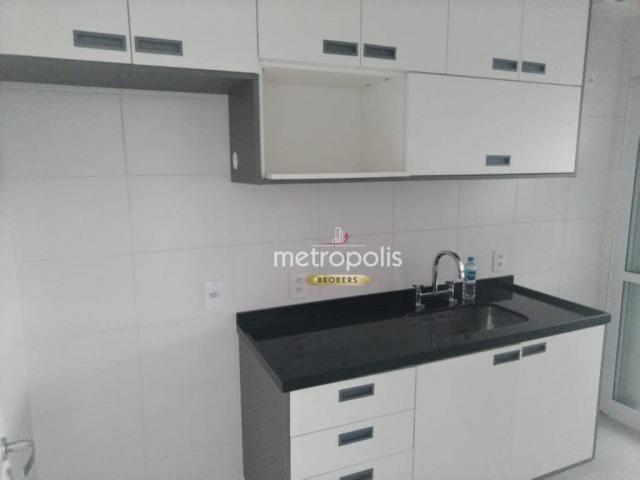 Apartamento com 2 dormitórios para alugar, 69 m² por r$ 2.500/mês - cerâmica - são caetano - Foto 8