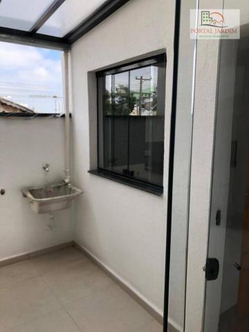 Apartamento com 2 dormitórios à venda, 75 m² por r$ 350.000 - vila camilópolis - santo and - Foto 7