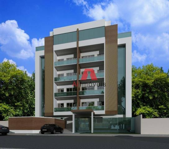 Apartamento com 3 dormitórios à venda, 104 m² por r$ 530.000 - baixa da colina - rio branc