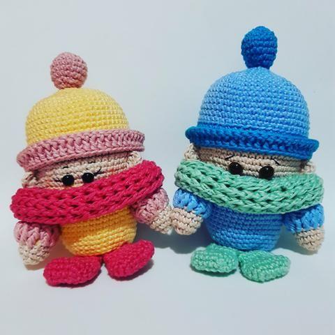 Boneca e bichinhos amigurumi - Foto 4