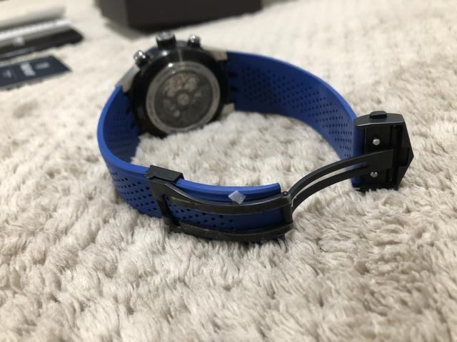 937398c5586 Tag Heuer Carrera Calibre Heuer 01 Ed. Blue Touch - Bijouterias ...