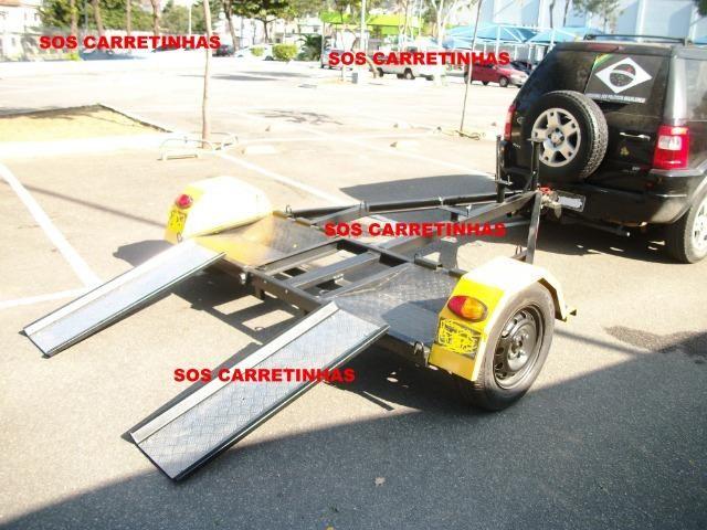 R$100,00 asa delta carretinha reboque guincho locação para puxar carro (aluguel) - Foto 6