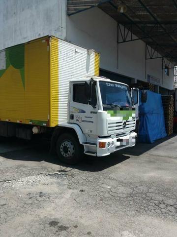 Mb 1720 truck bau 8 metros plataforma ano 2004