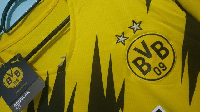Camisa do Borussia Amarela Masculina 2020/21 - Foto 2