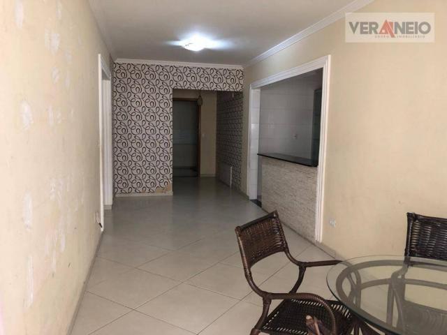 Apartamento com 2 dormitórios para alugar, 99 m² por R$ 3.100,00/mês - Canto do Forte - Pr - Foto 14
