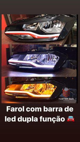 Personalização de farol, instalação de barra drl, ( luz diurna ) - Foto 2