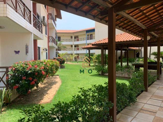 Apartamento com 1 dormitório para alugar, 52 m² por R$ 1.300/mês - Porto das Dunas - Aquir - Foto 4