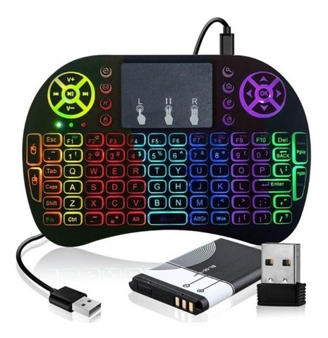 Mini Teclado Com Led TouchPad - Tv Box -Smart TV - Xbox - PlayStation - Foto 4