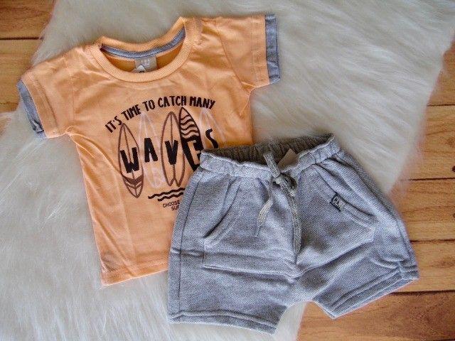 Conjunto Infantil Colorittá Menino Camiseta E Bermuda - Foto 2