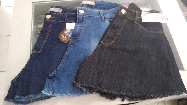 Short godê jeans (promoção)