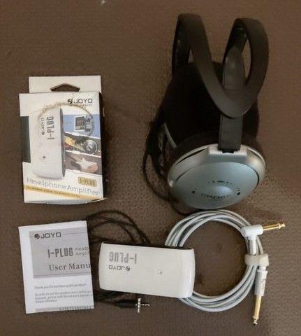 Mini Amplificador Joyo I-plug e Fone de ouvido Koss UR-18 - Foto 2