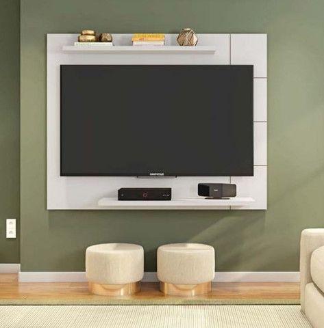 Painel Para TV Até 58 Polegadas Cross Branco /Al 108x Larg 135x prof. 26