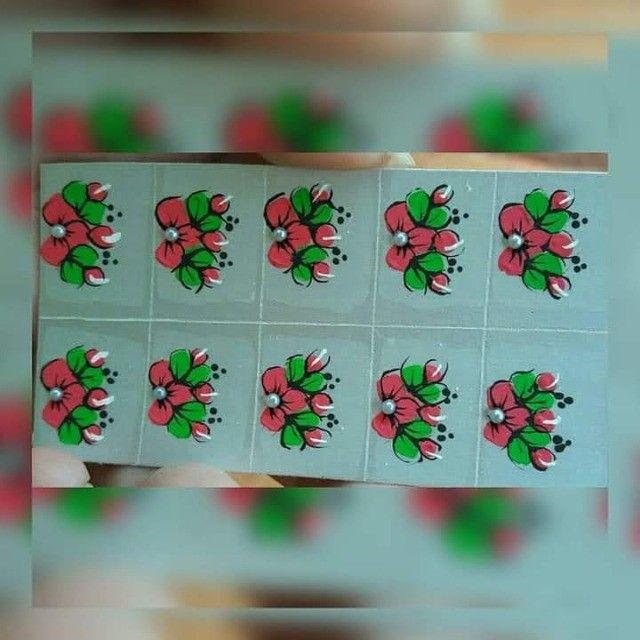 Adesivos de unha  artesanais 2,50 $ - Foto 2