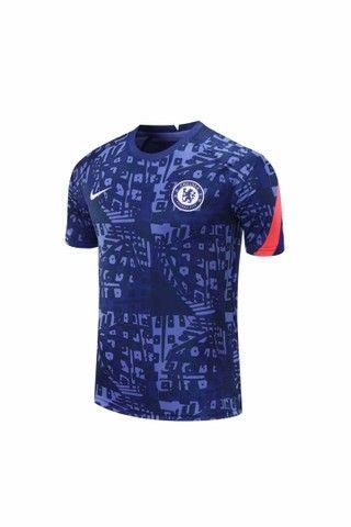 Camisa Chelsea importada pré jogo 2020/2021