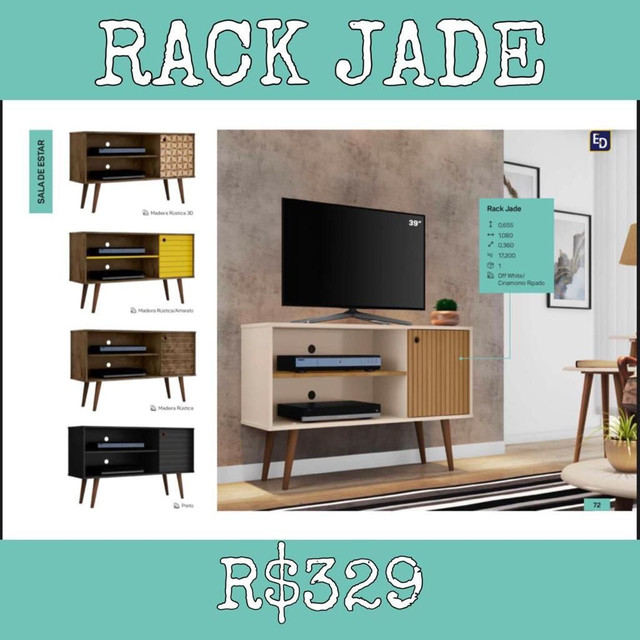 Rack Jade Rack Jade Sala de Estar Escritório quarto 557