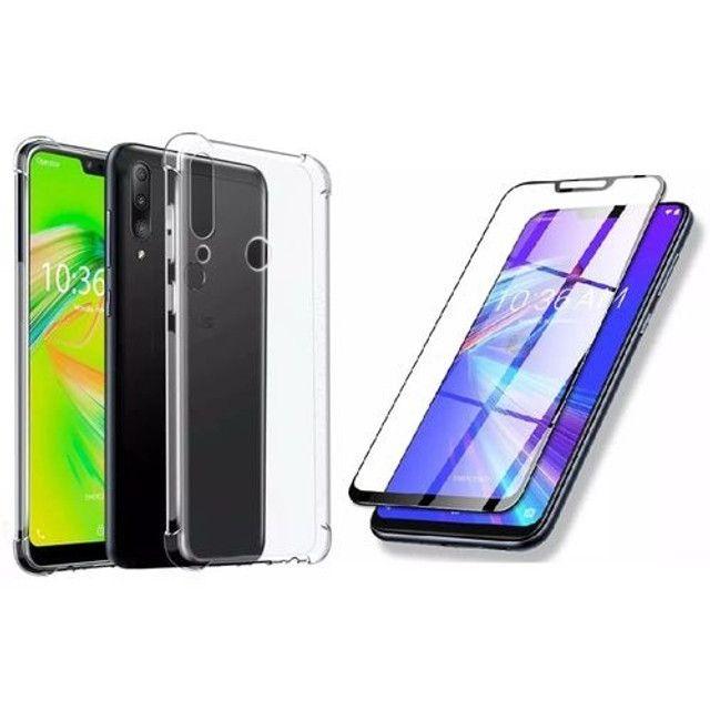 Capinha de silicone Anti Impacto + Película Vidro do iphone 6