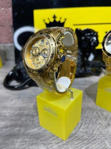 Relógio invicta pro diver 0074 banhado a ouro  - Foto 3