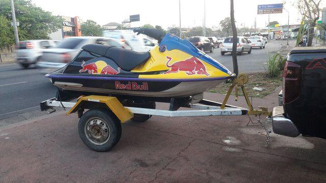Jetski Sea Doo com carretinha rodoviária Avalio trocas - Foto 2