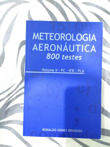 Meteorologia Aeronáutica 800 testes - livro