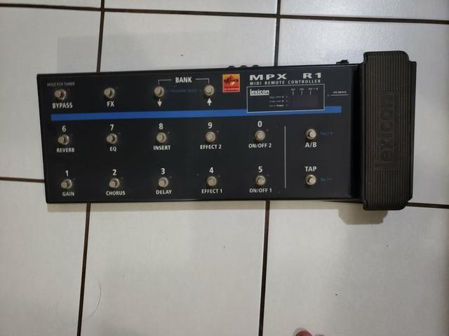 Multi efeitos Lexicon MPX G2 com pedaleira R1 + case + Furman Power conditioner - Foto 2