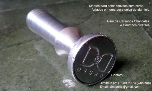 Carimbos Chancelas ou Marca D?Agua para documentos e insufilm - Foto 3