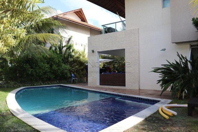 GN- Casa com 5 suítes, piscina privativa, deck, mobiliada, prox. a praia de Muro Alto - Foto 2