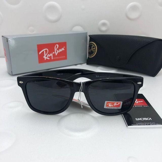 Óculos Ray Ban Wayfarer Preto Polido Clássico - Foto 2