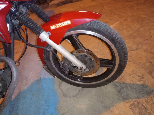 Roda três paletas freio a disco Titan 150 ou 160 - Foto 3