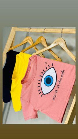 Mini croppd e T-shirts a pronta entrega - Foto 2
