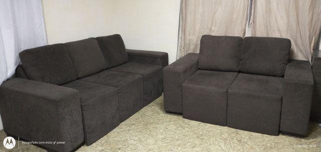 Sofá reclinável 2 e 3 lugares