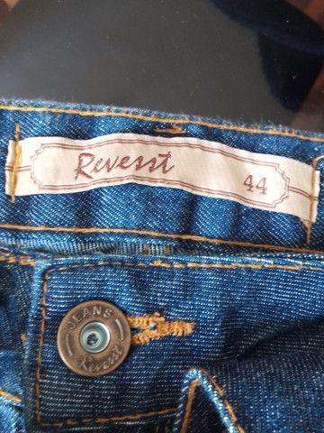 Saia jeans tamanho 44 - Foto 2