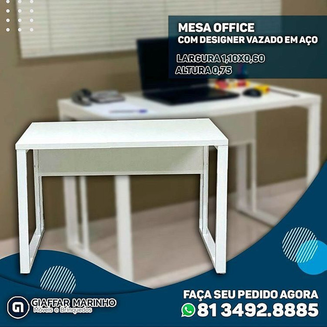 Mesa Office pronta entrega 1,10x0,60 branca