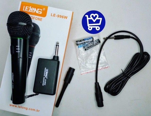 *Microfone Lelong Sem fio LE-996W*  - Foto 4