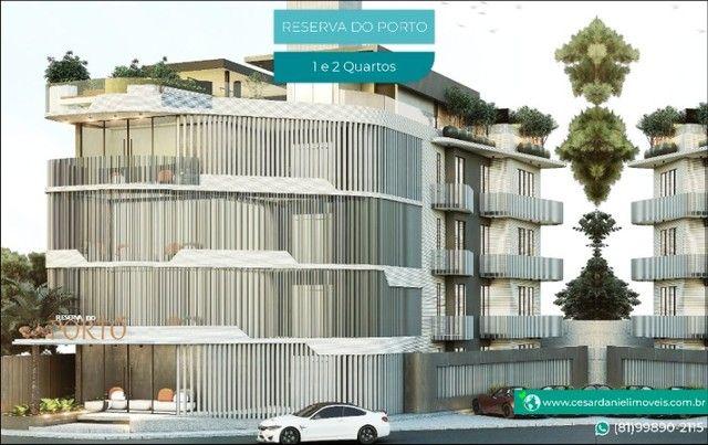 Lançamento no Centro de Porto com 2 Quartos + 50m²   Flats em Porto de Galinhas