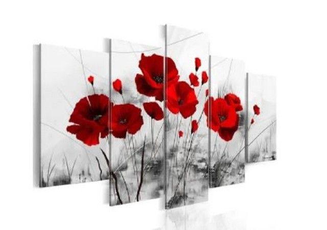 Quadro decorativo ? kit 5 peças modelo floral e outros