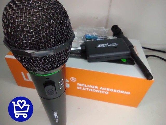 *Microfone Lelong Sem fio LE-996W*  - Foto 2